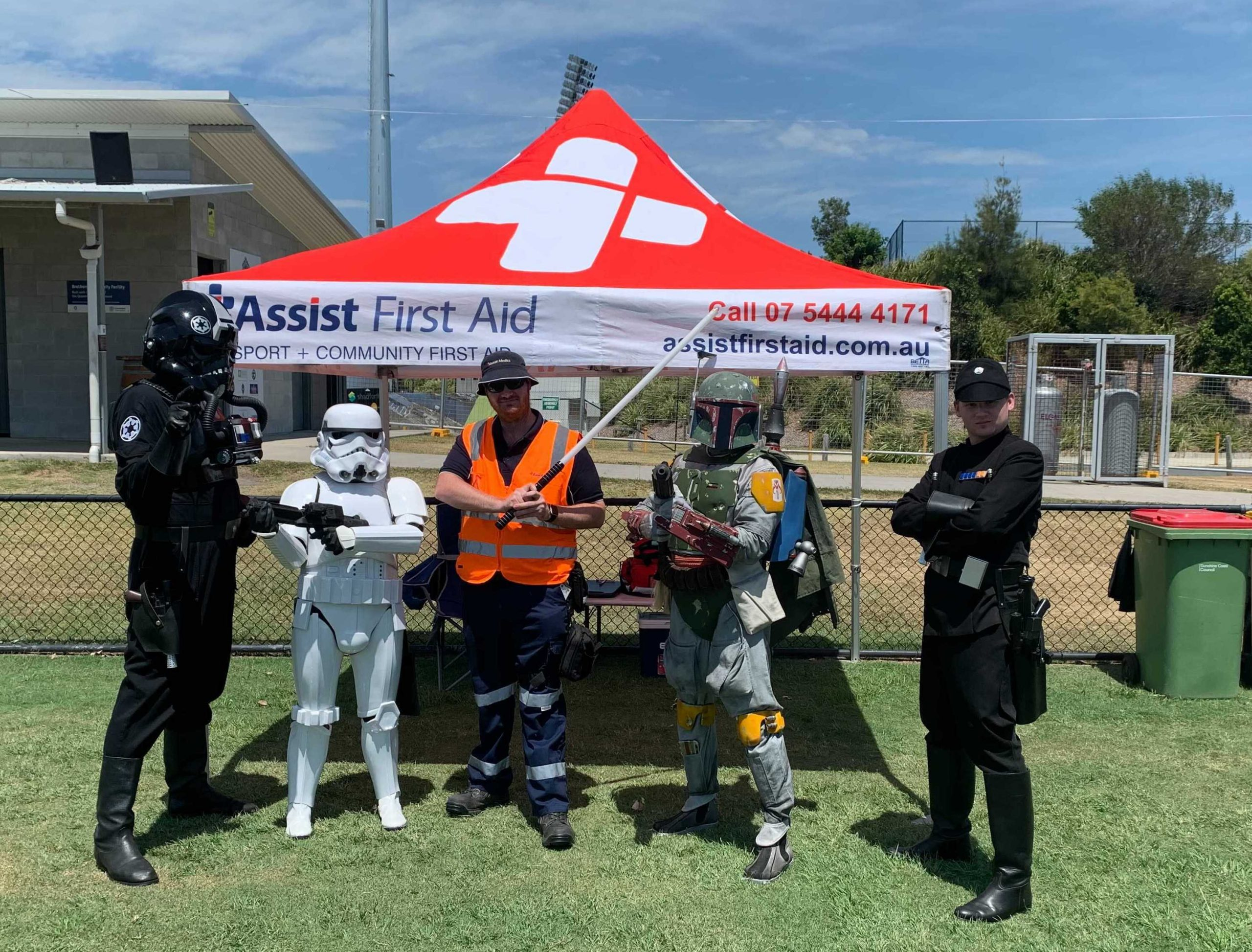 Assist Medical Event First Aid team with group of Superheros 2020