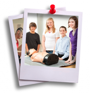 Snapshot of teenagers at a First Aid Course for Teenagers